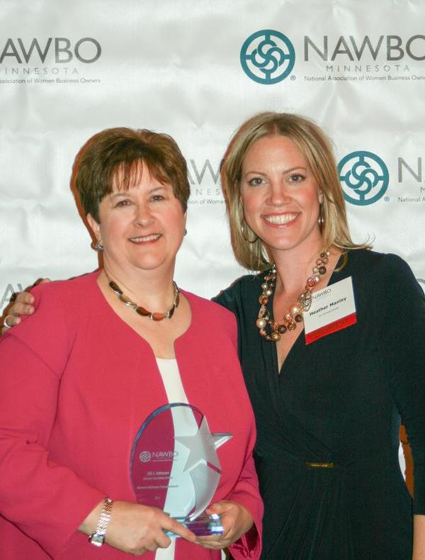 2013 Jill Johnson & Heather Manley - NAWBO Women in Business Champion